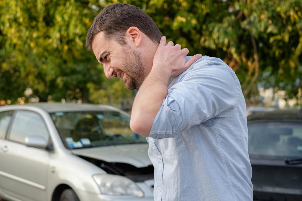 Chiropractic care of car accident injury.